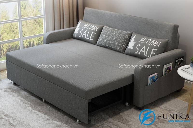 Sofa giường làm bằng vải F988 có hộc đồ