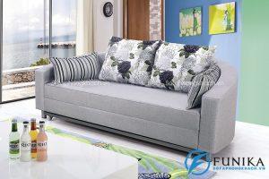 Sofa gường tròn bằng vải nỉ BK-6021