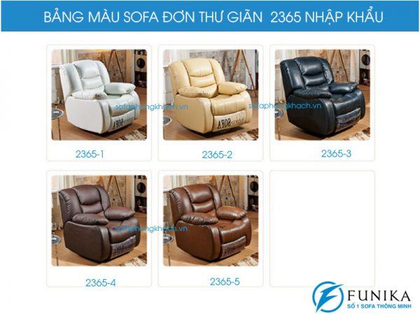 Bảng màu sofa thư giãn đơn 2365