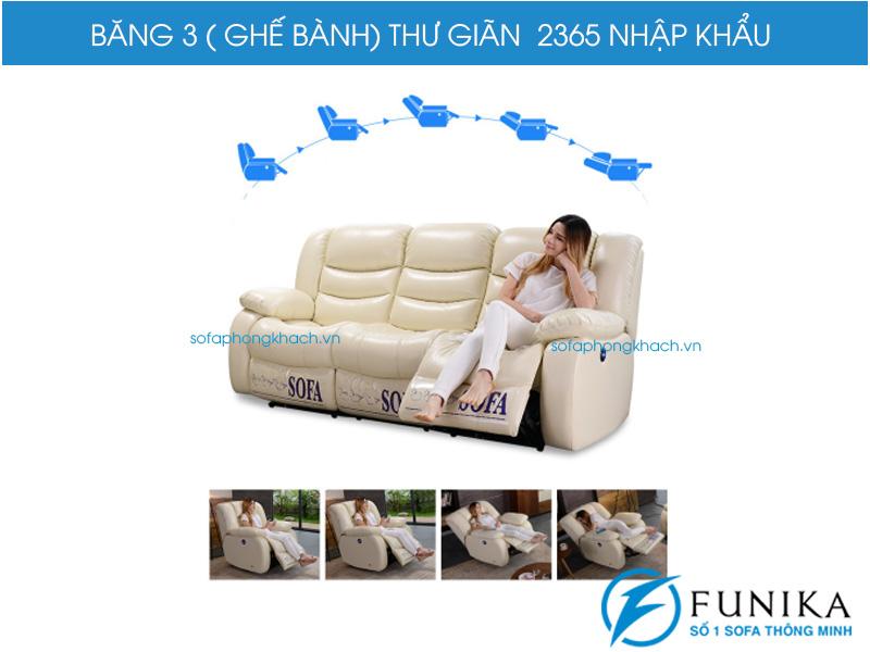 Ghế ba sofa thư giãn 2365 cao cấp