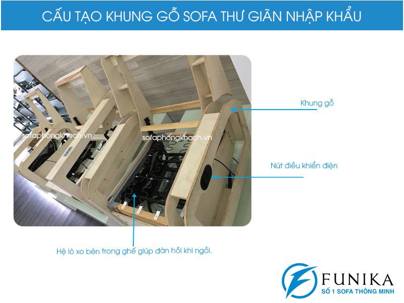 khung gỗ sofa thư giãn 2365 đơn