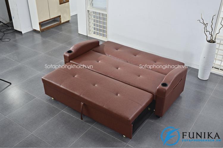 Ghế sofa giường đa năng vỏ bọc bằng da sang trọng ít bám bụi