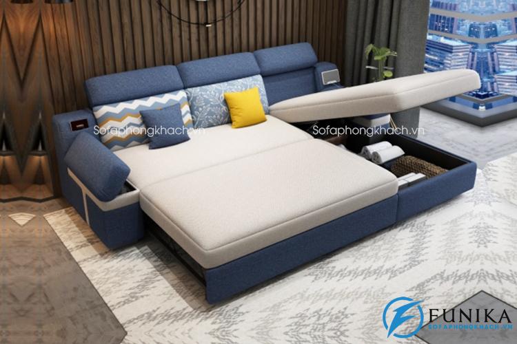 Sofa giường góc thông minh tích hợp loa phát nhạc, cổng sạc USB