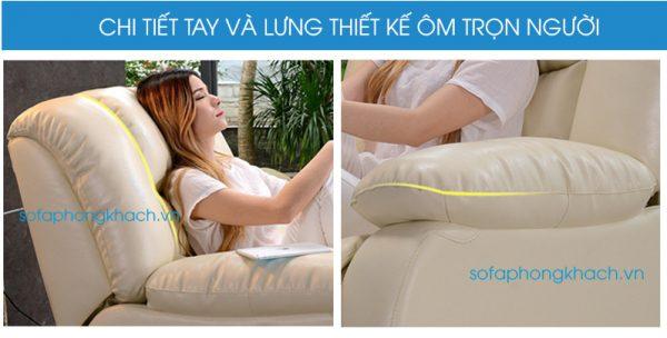 sofa thư giãn 2365 được thiết kế mềm mại ôm trọn người