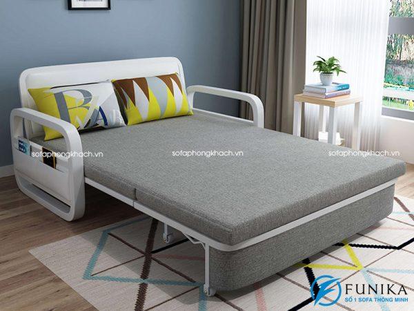 sofa giường nằm F666 khi ở trạng thái giường ngủ